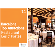 Barcelona Top Attractions 11 - Restaurant Les 7 Portes