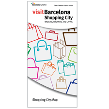 Barcelona Shopping City Map