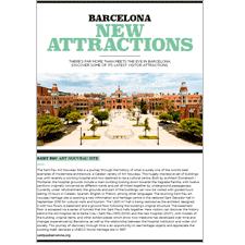 Barcelona New Atractions