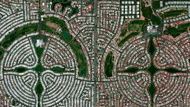 Sun Lakes, Arizona. Benjamin Grant / Satellite imagery