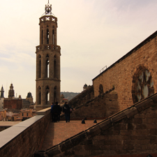 The rooftop of Santa Maria del Mar
