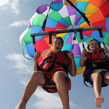 Parasailing in the Port Olímpic