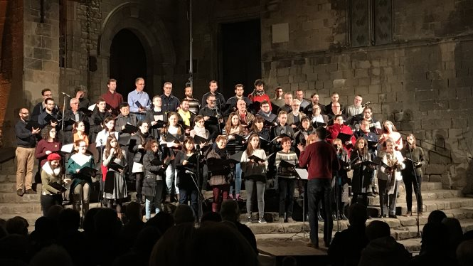Christmas Carols at the Plaça del Rei with the Orfeó Català