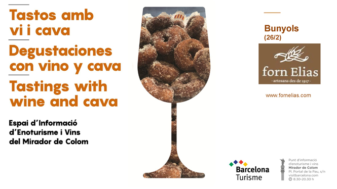 Tastings with wine and cava at the Mirador de Colom (Columbus Monument)