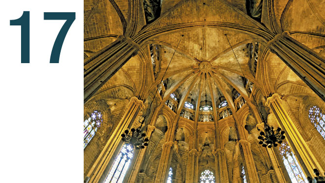 Admiring Catalan Gothic art and architecture