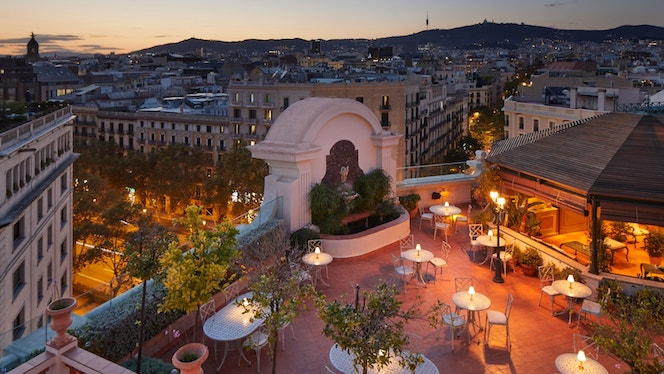Summer evenings on hotel terraces
