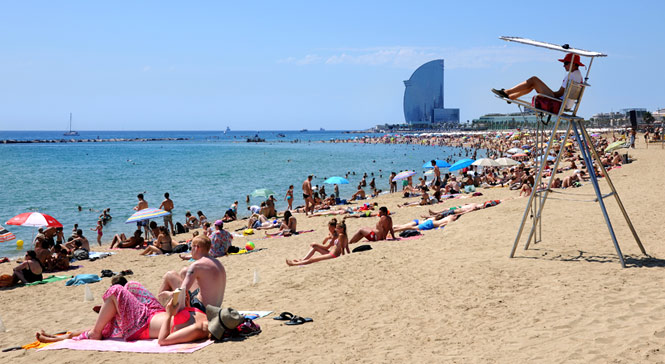 Image result for barcelona beach