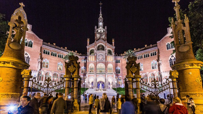 The modernist enclosure of Sant Pau