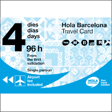 Hola Barcelona Travel Card, Cartes de transport